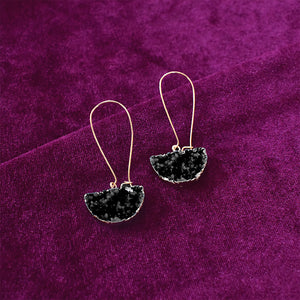 Tipple - Black - Tassel Stone Earrings