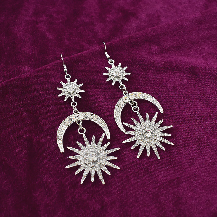 Gin Tonic - Studded Long Earrings