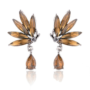 Divine Drops - Topaz - Delicate Crystal Drop Earrings