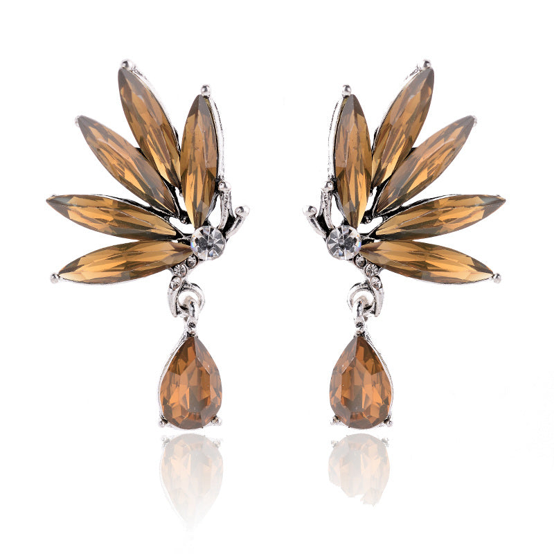 Divine Drops - Topaz - Crystal Earrings