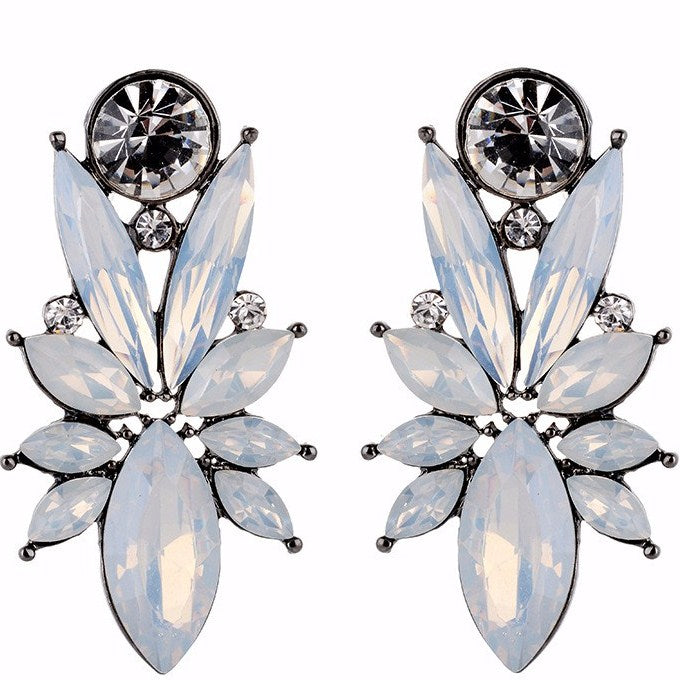 Femme Fatale - Delicate Embellished Stone Crystal Earrings