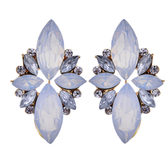 Flower Power - Jasmine - Crystal Earrings