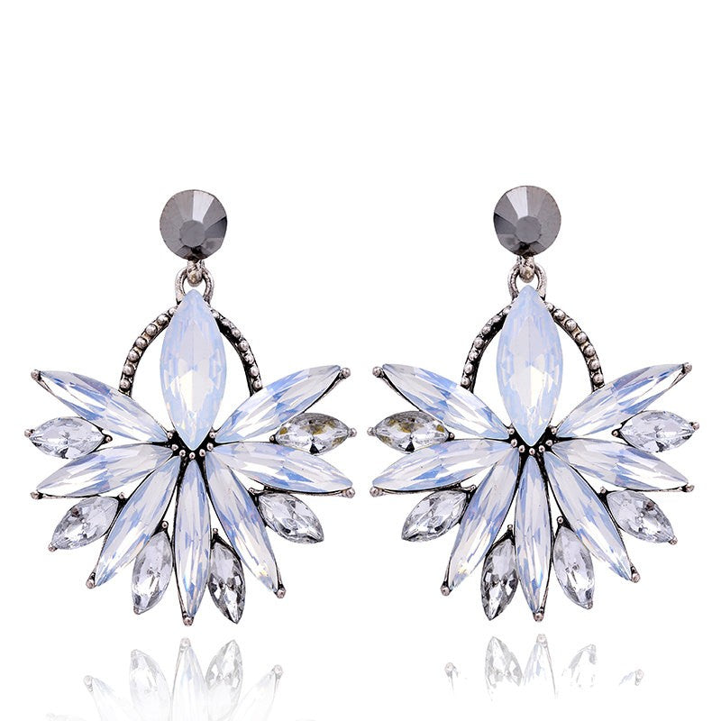 Glow - Opal - Intricate Delicate Crystal Stud Earrings