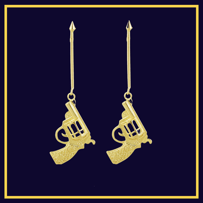 Jump The Gun - Gun Statement Earrings