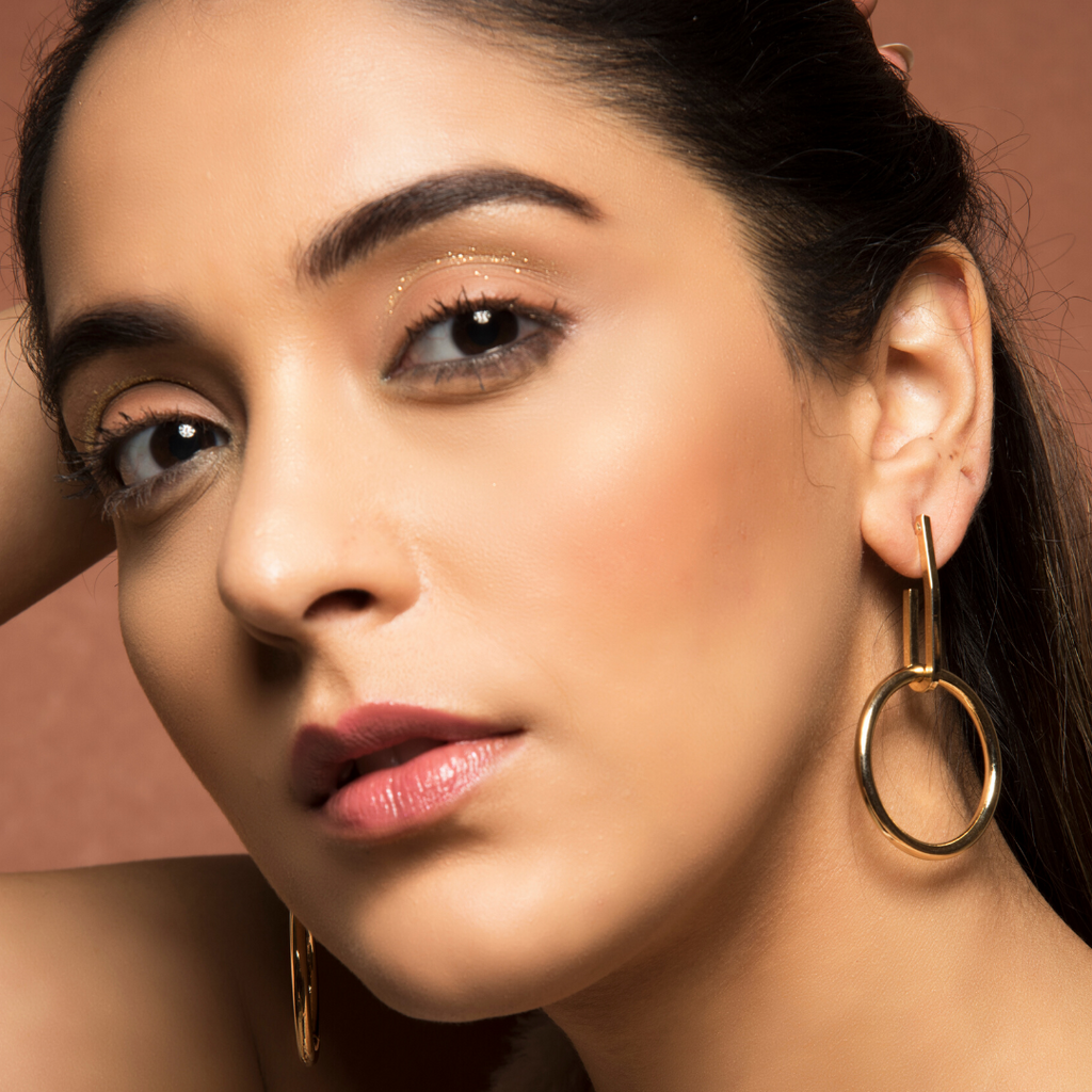 Hestia - Golden Statement Hoop Earrings