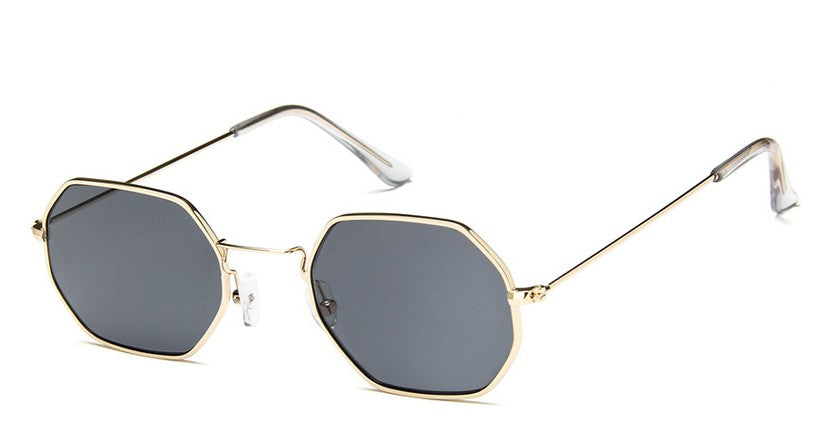 Hex-A-Heart - Metal Hexagonal Trendy Sunglasses