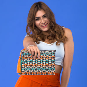 Truffles - Orange & Teal - sling bag