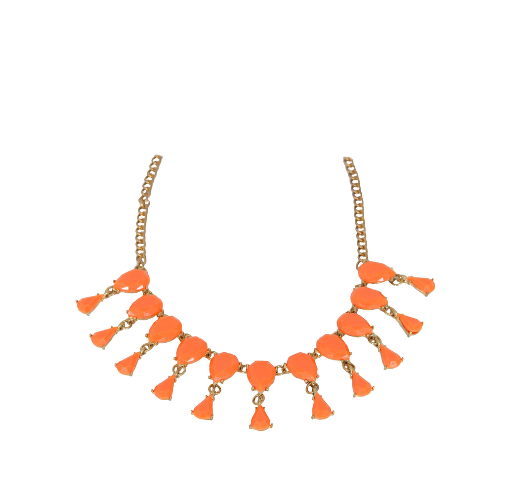 Peachy Drops of Heaven - Stone Necklace