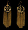 Earthly Nirvana - Long Golden Metal Tassel Earrings