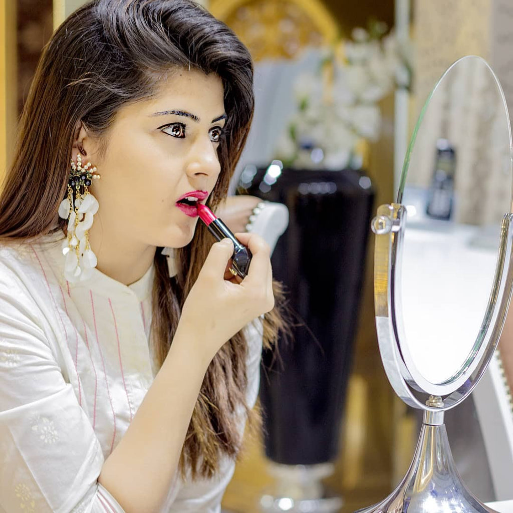 Saloni Sehra's Snow White - Stone Black Earrings With White Petal Tassels