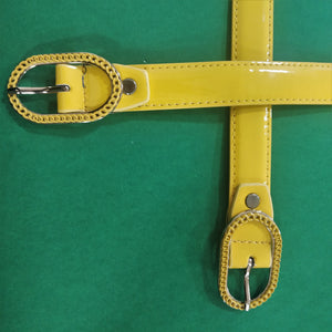 Yellow Yearn Belt - Fun Popping Belt With Metal Buckle