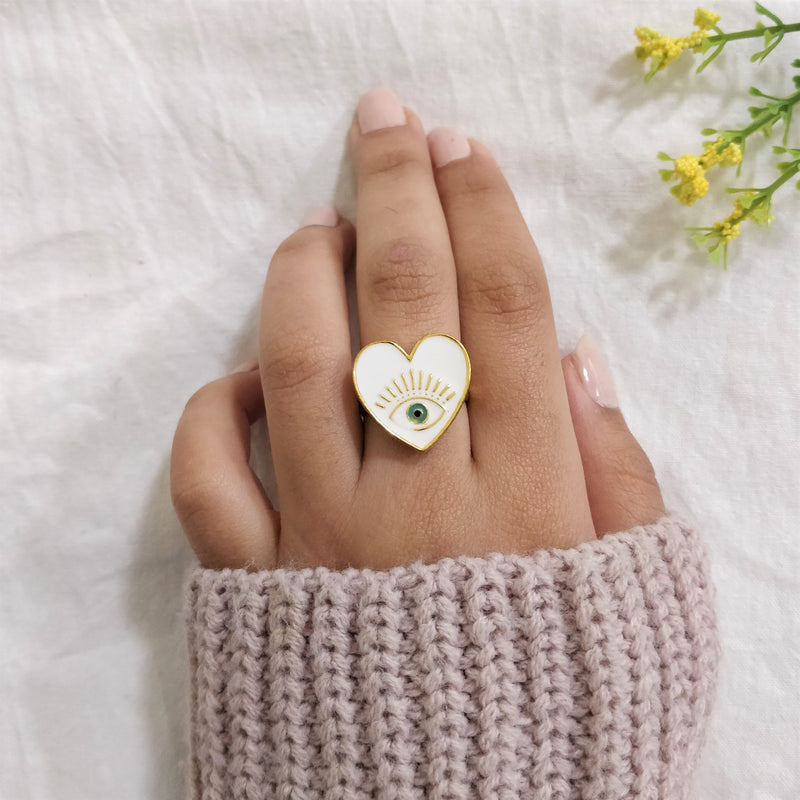 Eye Of Providence - Dainty Heart Eye Ring