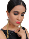 Egyptian Romance - Long Golden Metal Tassel Earrings