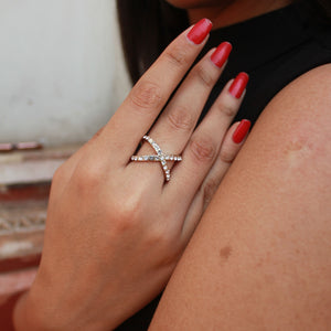 Cross My Heart - Studded Ring