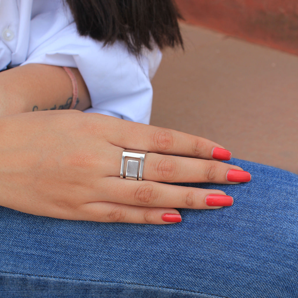 Draw The Line - Silver - Chic Ring