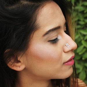 Neha Doodles In Knick Knack Nook Maal - Silver Nosering - Clip On Nosering