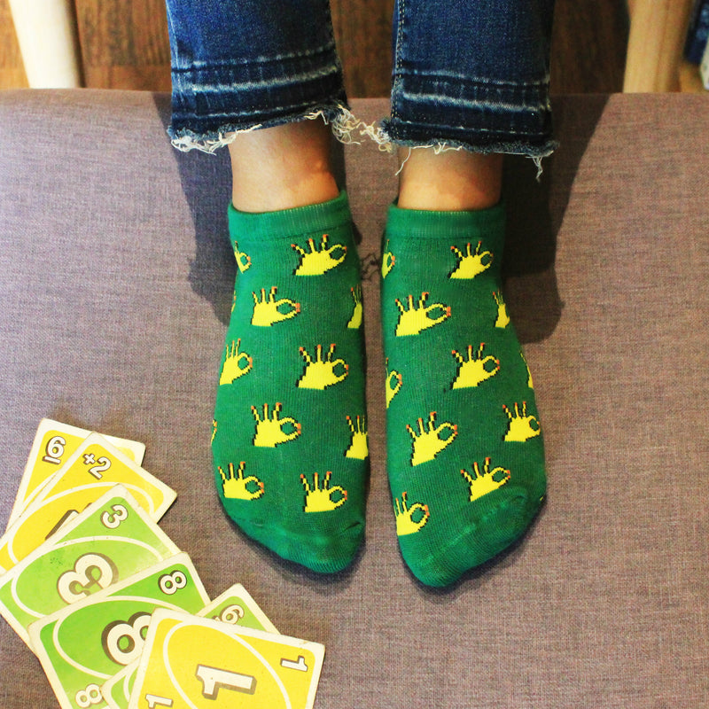 Okey Dokey - printed ankle length socks