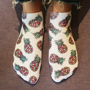 Tropical Tease - printed ankle length socks