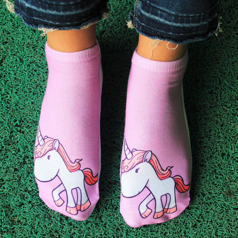 Mauve Mania - printed ankle length socks