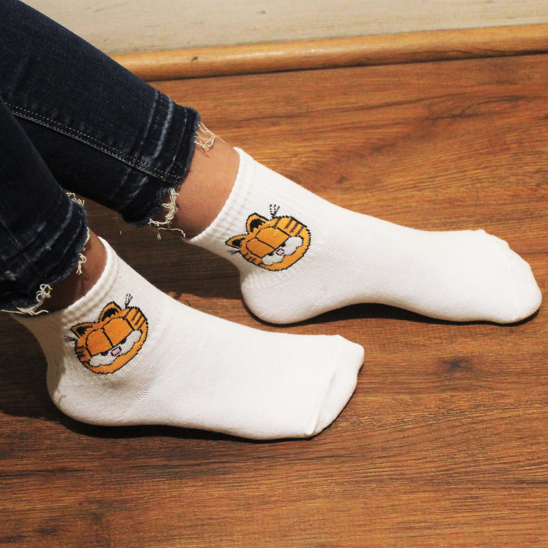 Garfield Mania - White Socks