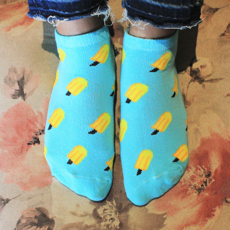 Ice Lollies - printed ankle length socks