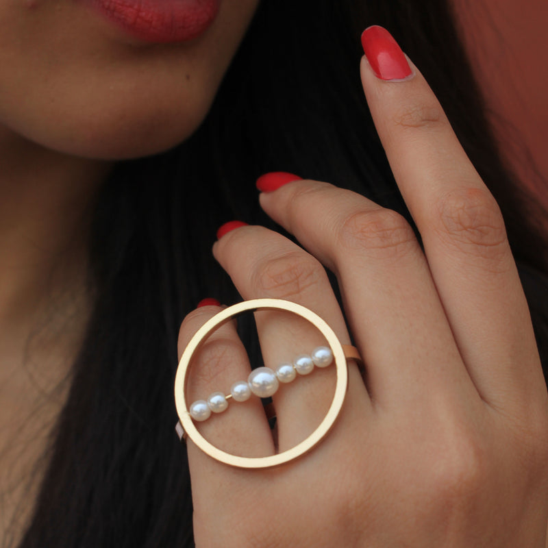 Interstellar - Pearl String Ring