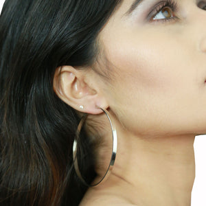 Isabella Silver - Classic Hoop Earrings