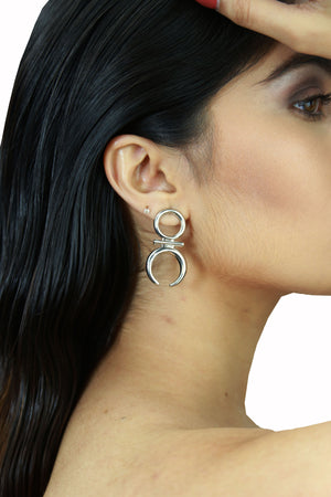 Jane Silver - Chic Metal Stud Earrings