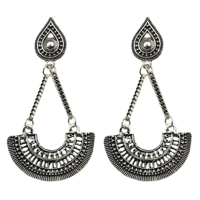 Jyoti - Artificial Silver Earrings
