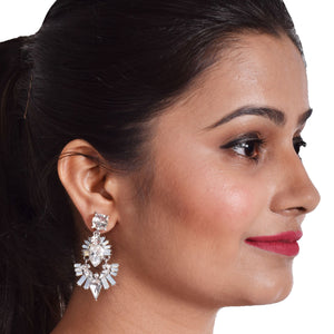 Diana Crystal Drop - Elegant Crystal Stone Dangle Earrings