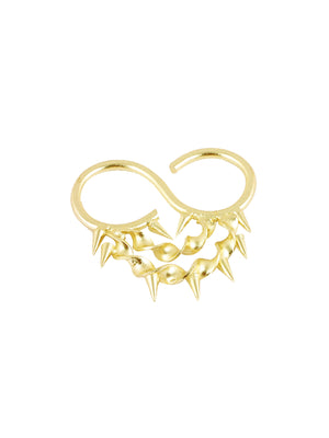 Cleopatra Double Ring - Golden Statement Ring