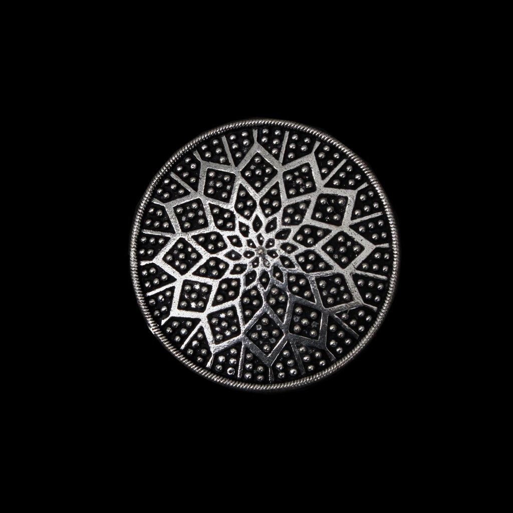 Begum Ring - Large German Silver Intricate Ring