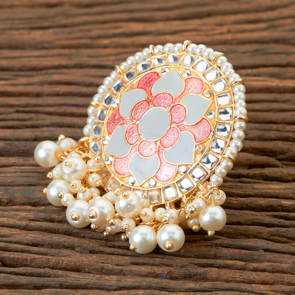 Meera Ring - Beaded Meenakari Statement Ring