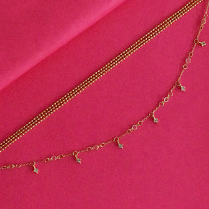 Miranda Priestly Layered Necklace - Golden Metal Layered Necklace with Tiny Charms