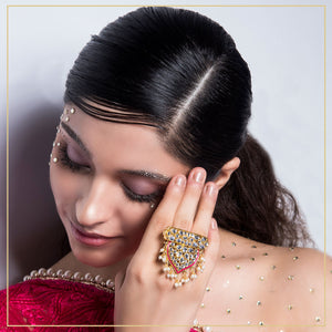 Mumtaz - Pink Statement Ring