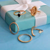 Porto Set of Rings -Dainty Golden Metal Ring Stack