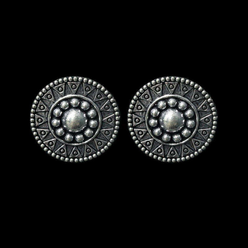 Pracheen Earrings - German Silver Intricate Design Earrings