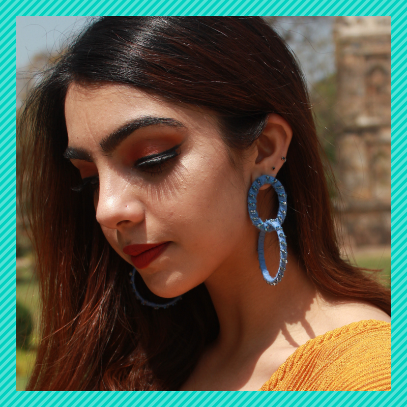 Ring-a-Ring- Blue - Interlinked Fabric Hoops