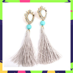 Rapunzel - Stone Earrings with Tassels