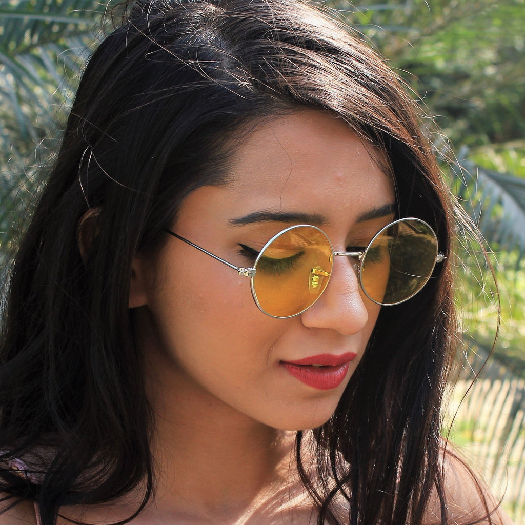 Retro Vibes - Yellow Round Shades