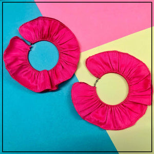 Ruffled Hoops Pink - Sample Sale