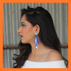 Kaanchi Singh In Knick Knack Nook Shimmery Shuttles Mini Holo Blue Earrings - Holographic Sequin Stud Earrings