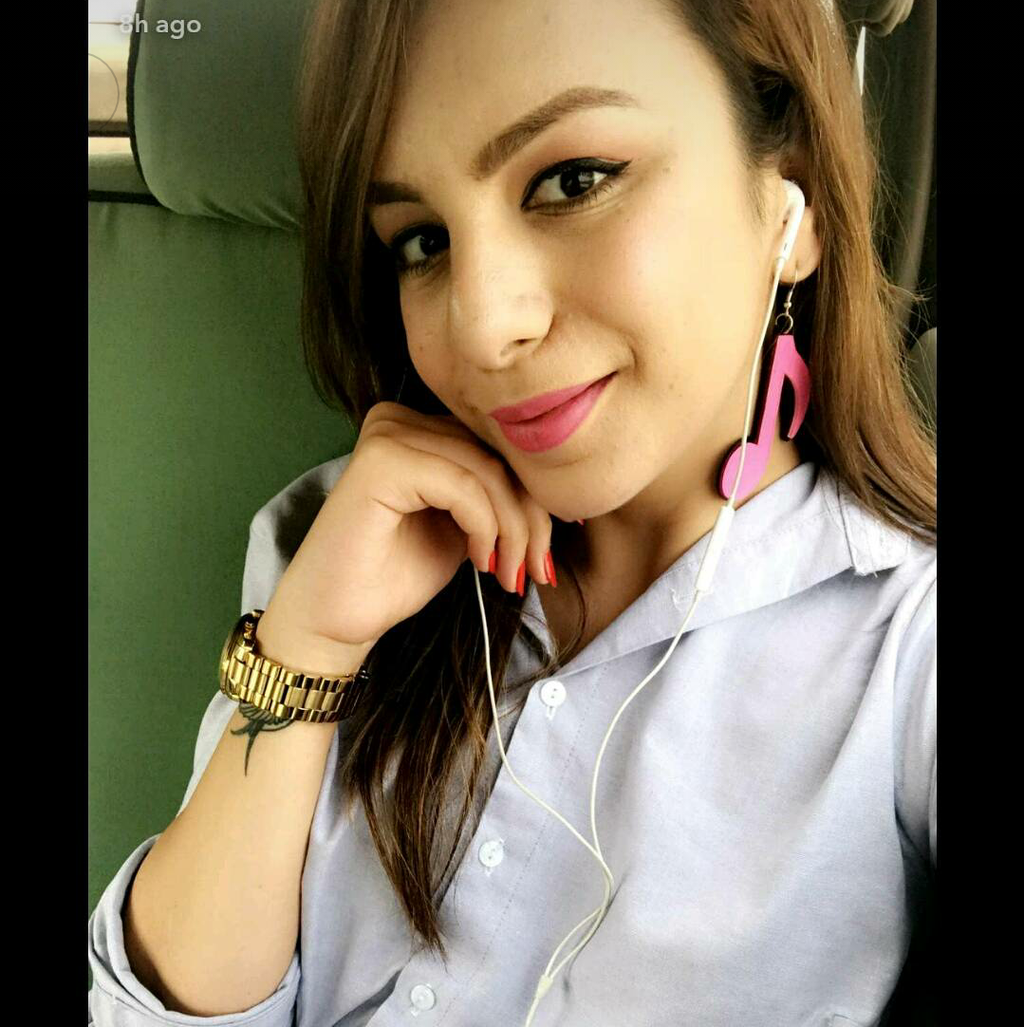 Nitibha Kaul In Knick Knack Nook High Notes Earrings - Pink - Acrylic Music Notes Earrings