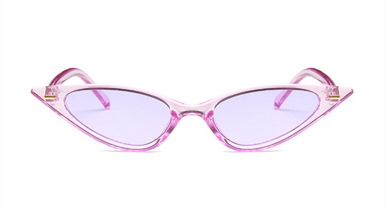 Sleek Chic - Lavender- Sleek Cat Eye Frame Sunglasses