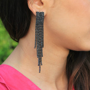 Stardust - Black Studded Earrings