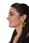 Superstar - Yellow - Metal Star Earrings