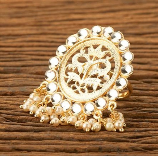Swara Ring - Beaded Indian Statement  Ring