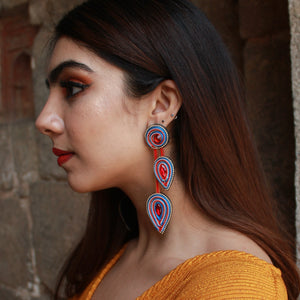 Twirling Petals - Fabric Earrings