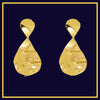 Twist & Drop - Golden Metal Drop Earrings