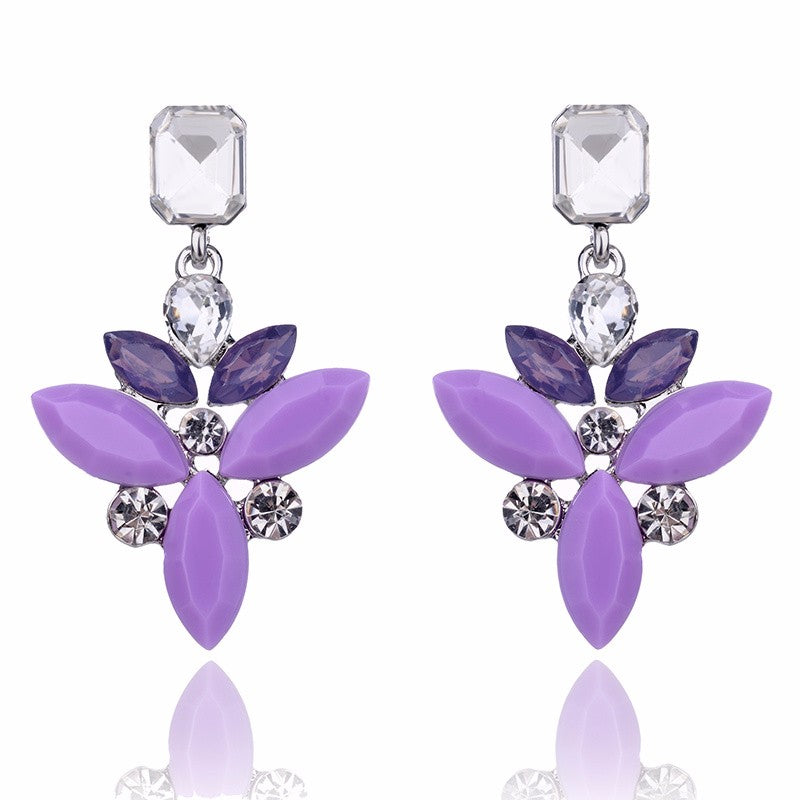 Temptress - Delicate Purple Stone Drop Earrings